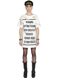 Moschino It's Lit Warning Jersey T Shirt Dress