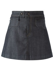 Citizens Of Humanity Denim Mini Skirt Blue