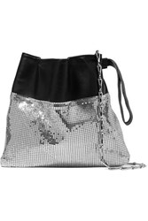 Paco Rabanne Gym Pouch Leather And Chainmail Shoulder Bag Silver