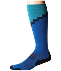 Smartwool Phd R Pro Mountaineer Bright Blue Crew Cut Socks Shoes