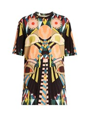 Givenchy Geometric Print Round Neck Cotton T Shirt Multi