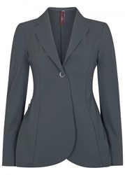 High Bosun Charcoal Jersey Blazer Dark Grey