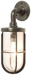 Original Btc Weatherproof Ships Well Glass Wall Light Black