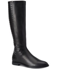 Calvin Klein Women's Donilly Wide Calf Riding Boots Women's Shoes Black