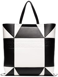 Calvin Klein 205W39nyc White And Black Geometric Quilted Leather Tote