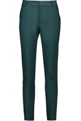 Raoul Stretch Cotton Blend Skinny Pants Emerald