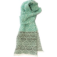 Katie Victoria Tile Scarf Blue Grey White