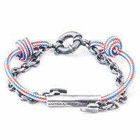Anchor And Crew Project Rwb Red White And Blue Belfast Rope Bracelet White Red Blue