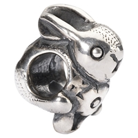Trollbeads Easter Bunny Sterling Silver Charm Silver