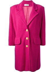 Yves Saint Laurent Vintage Knitted Overcoat Pink And Purple