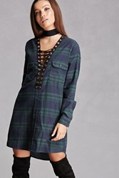 Forever 21 Plaid Flannel Strappy Dress