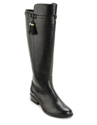 Lauren Ralph Lauren Marsalis Round Toe Leather Riding Boots Black
