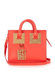 Sophie Hulme Mini Albion Box Leather Cross Body Bag Red