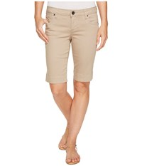 Kut From The Kloth Natalie Bermuda In Light Taupe Light Taupe Women's Shorts