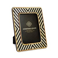 Jonathan Adler X Line Frame 4'X6' Black And Gold