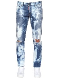 Dsquared 17.5Cm Slim Bleached Wash Denim Jeans