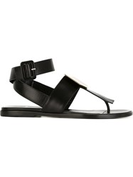 Pierre Hardy Buckled Flat Sandals Black