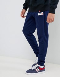 New Balance Small Logo Joggers In Navy Mp83515_Pgm