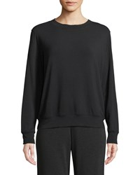 Majestic French Terry Relaxed Sweatshirt Black