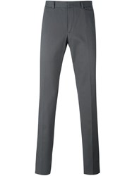 Z Zegna Concealed Button Chino Trousers Grey