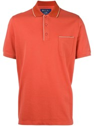 Loro Piana Classic Polo Shirt Yellow Orange