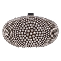 Coast Paloma Pearl Clutch Bag Grey