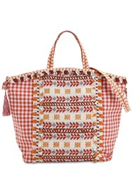 Dodo Bar Or Cotton Jacuqard And Lace Tote Bag Multicolor
