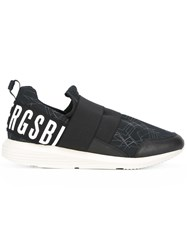 Bikkembergs Logo Print Slip On Sneakers Black