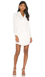 Krisa Drape Button Front Mini In Ivory. Cream