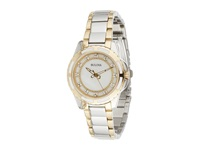 Bulova Ladies Diamonds 98P140 Two Tone Watches Multi