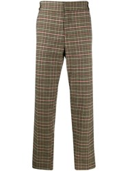 Soulland Wilson Checked Straight Leg Trousers 60