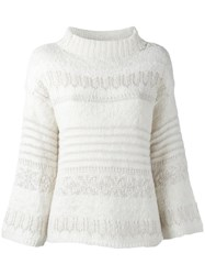 Polo Ralph Lauren High Neck Jumper White