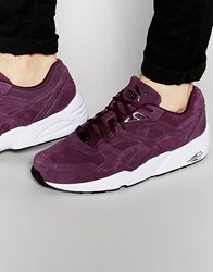 Puma R698 Suede Trainers Purple