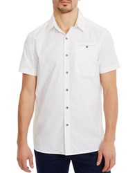 Kenneth Cole Stretch Ripstop Shirt White