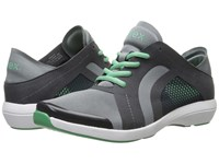 Aetrex Berries Fashion Sneakers Charcoal Women's Lace Up Casual Shoes Gray