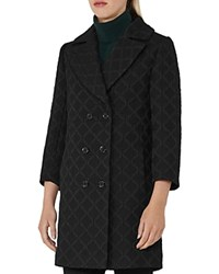 Reiss Ridley Textured Coat Black
