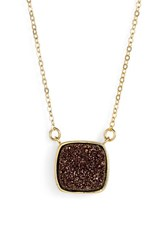 Women's Elise M. 'Athena' Cabochon Pendant Necklace Coffee