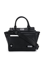 Diesel Logo Patch Satchel Bag Black