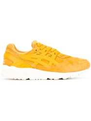Asics Contrast Lace Up Trainers Yellow Orange
