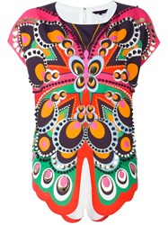 Manish Arora Butterfly Print Top Multicolour