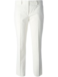 Tory Burch Cropped Pleated Trousers Nude And Neutrals