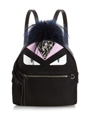 Fendi Bag Bugs Nylon And Fur Mini Backpack