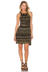 Karina Grimaldi Mykonos Beaded Mini Dress Black