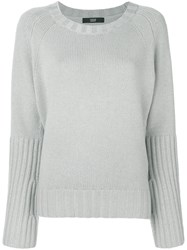 Steffen Schraut Ribbed Knit Jumper Grey