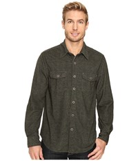 True Grit Sueded Tweed Long Sleeve Two Pocket Shirt Green Men's Clothing