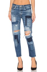 Moussy Fontana Patched Skinny Blue