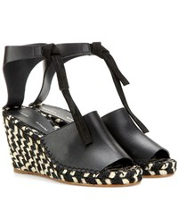 Proenza Schouler Leather Wedge Sandals Black