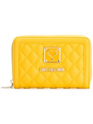 Love Moschino Quilted Wallet Yellow Orange