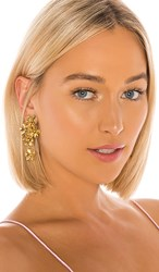 Jennifer Behr Dasha Earrings In Metallic Gold.