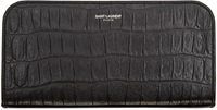 Saint Laurent Black Crocodile Paris Wallet